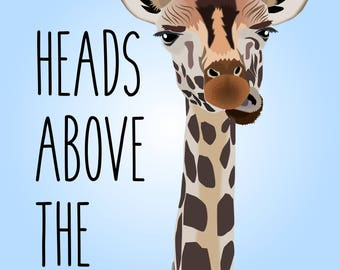 "Giraffe ""Heads Above the Rest"" Mug/Water Bottle"