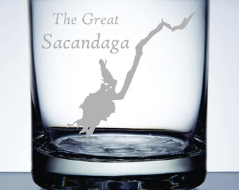 The Great Sacandaga - Etched 10.25 oz Rocks Glass