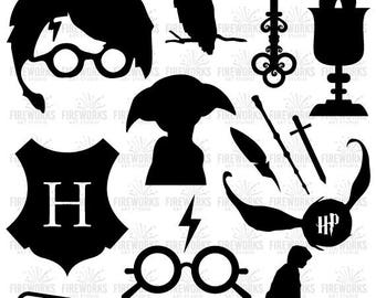 Harry Potter SVG DXF EPS  cut files, Hogwarts - for Silhouette Cameo or Cricut, Silhouette cut files, Harry Potter svg, cutting template