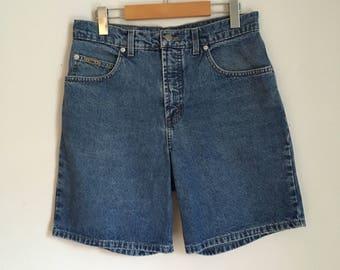 """High waist jean shorts, 90s, mom jeans, denim shorts, 30"""" waist, *vintage*"""