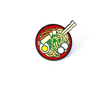 ramen noodle bowl enamel pin