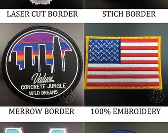 Custom embroidered biker patches for vest, custom vest patches, custom biker patches no minimum