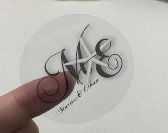 Custom clear stickers, clear vinyl stickers, clear labels stickers, clear custom stickers, clear stickers for glasses