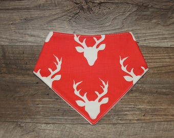 Bandana Bib | Buck | Bibdana | Deer | Antlers | Teething | Baby | Unisex | Drool Bib | Kenton Creations | Perfect Gift | Handmade in Canada