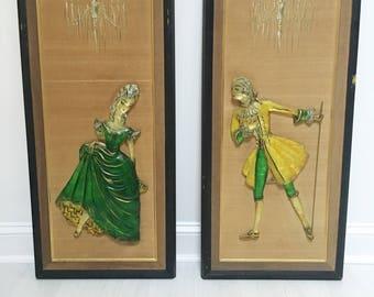 MCM Lucite Wall Plaques, Art, Vintage, Retro, Antique, Z. Danjell, 60's 70's