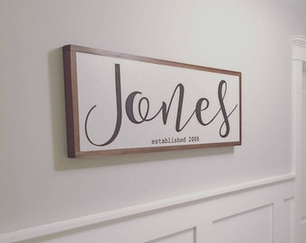 Family Last Name Sign, Wedding Gift, Family Gift, Newlywed Gift, Name Sign, Wooden Sign, Last Name