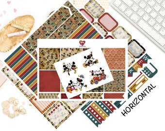 Classic Mr & Mrs Mouse Horizontal Weekly Kit/ Erin Condren/ Planner Stickers