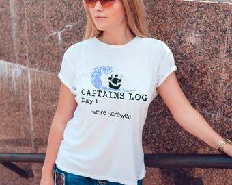 Funny Captain T-shirt - Women's Pirate Ship Shirt - Humor T-shirt - Boating Shirt for Her - Boat Tee