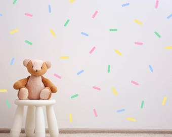 Sprinkle Wall Sticker- Nursery Kids Wall Decal- Set of 4 colours - Set of 128   PP135