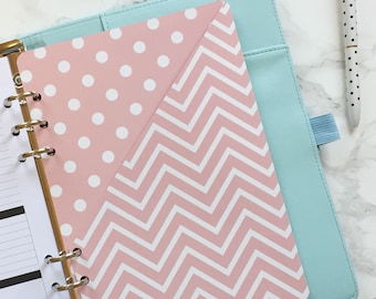 Pink Patterned Pocket Folder | Planner Pocket | Pocket Divider | Pocket Dashboard - A5