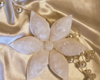 Sofreh Aghd White Nabat Flower Persian Wedding Aroosi