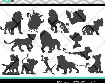 The Lion King svg,Silhouette Bundle svg, Lion King svg files,Silhouette Studio,Printable svg, Digital Art Print,Digital download, svg files