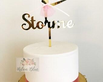 Personalised Ballerina Cake Topper or Cupcake Topper- Ballerina Party/Ballerina Birthday/Ballerina Cake/Ballet decor/Ballet Party/Ballet