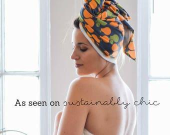 """24"""" x 40"""" pear organic cotton t-shirt hair towel"""