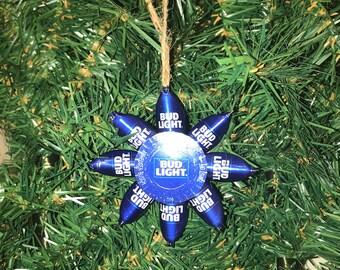 Bud light beer cap Christmas ornaments