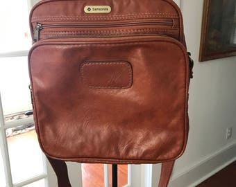 Vintage Leather Samsonite Satchel Messenger Carry On Bag