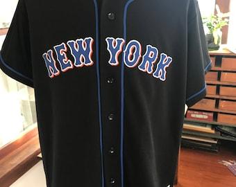 NY Mets New York MLB Black Jersey