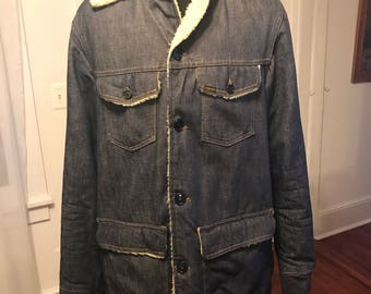 Vintage 1960's Genuine Sears and Roebuck's Denim Lined Coat