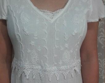 Boho Beach wedding dress, Simple cotton wedding dress, Eco friendly wedding dress, Casual wedding dress, Boho Beach Wedding Dress