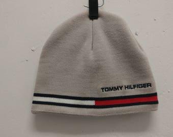 Vintage Tommy Hilfiger Hat 1990s Tommy Hilfiger Stripe Winter Toque Hat