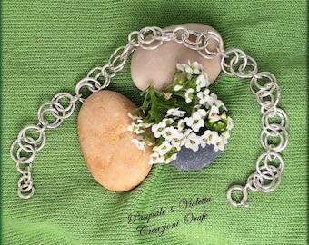 Pretty, Pretty round circles Bangle bracelet