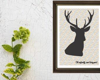 Poster/print Scandinavian deer