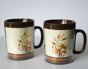 Set of Two, ThermoServ, Mugs, Vintage, Drinkware