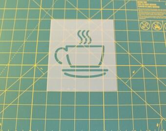 Coffee Cup Stencil - Reusable DIY Craft Stencils of a Coffee Cup