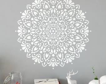 Harmony Mandala Stencil - Reusable DIY Craft Stencils of a Detailed Harmony Mandala - Great Stencil for Walls!
