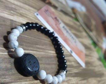 Howlite Healing Bracelet, Stone Energy Bracelet, Howlite