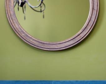 "Old Grey Round Mirror ""Belfast"" / Circle Mirror / Scandinavian Style Mirror / Minimalist Modern Style / Wall Mirror / Loft Style"