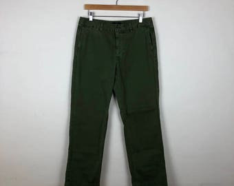 Vintage Olive Green Chinos Size 30