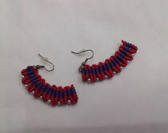 "Macramé Earrings ""Mexico"""