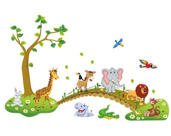 Wall Stickers For Kids Room Animals Decal Kids Wall Decal Animals Sticker