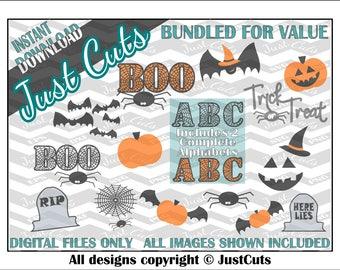 Halloween svg Bundle - halloween svg - SVGfiles  - PNG - EPS - DXF- svg - alphabet svg - cut file - svg file bundles - fall svg