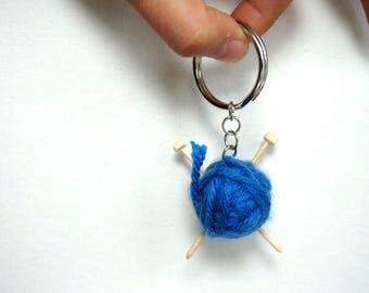 Knitting enthusiast - Handmade Keychain