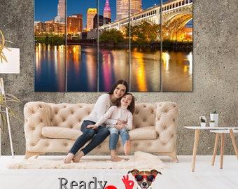 Cleveland city, Cleveland Wall Art, Cleveland canvas, City canvas, Cleveland Print, Cleveland poster, Cleveland photo, Cleveland skyline