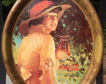 Set of 3 Vintage Coca Cola Serving Trays