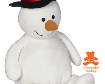 Personalised Plush Animal – Sonny Snowman