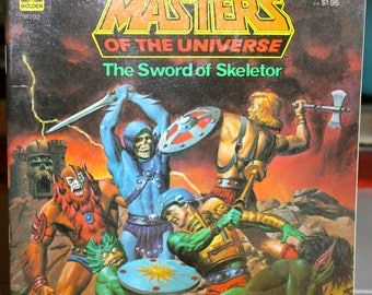 Vintage 1983, Masters of the Universe, book, The Sword of Skeletor, excellent condition, MOTU