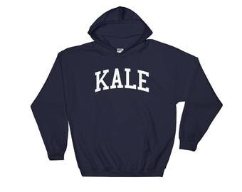 Kale - Hooded Sweatshirt - Funny, Yale, University, Vegan, Vegetarian, College, Ivy League, Gift Idea