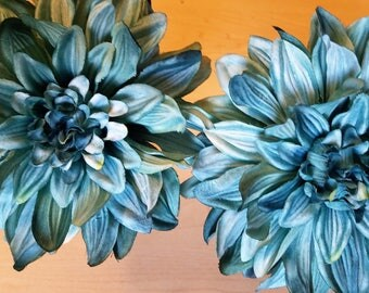 Big Beautiful Blue Dahlia Flowers