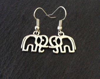 Elephant earrings / elephant jewellery / animal earrings / animal jewellery / animal lover gift