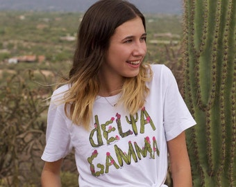 Cactus Letters Greek Tee (for multiple sororities!)