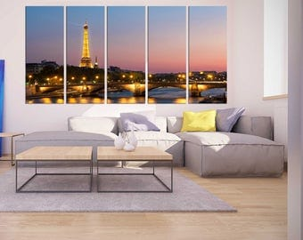 large wall art eiffel tower canvas print paris night canvas framed extra large canvas