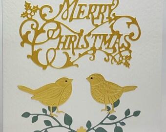 Christmas Song Bird Card