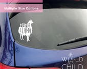 Mama Llama Car Decal, Mama Llama Car Sticker, Car Vinyl, Window Sticker, Window Decal
