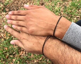 Indian Leather Bracelets, Couples Anniversary Gift, Leather Jewelry for Men, Natural Leather Bracelet Women, Mens Simple Adjustable Bracelet