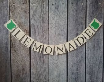 LEMONADE banner, lemonade stand decorations, lemonade stand sign, summer banner, summer party idea, lemonade stand ideas, choose your colors
