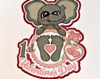 Baby's 1st Valentine's Day Scrapbook Paper Piecing
